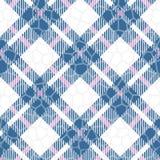Картина вектора сини бирюзы, красных и белых цвета тартана безшовная Checkered текстура шотландки Геометрическая простая квадратн иллюстрация вектора