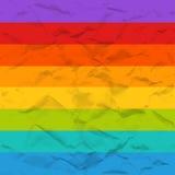 Картина вектора скомканная радугой бумажная безшовная иллюстрация вектора