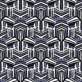 Картина вектора смелая striped с геометрическим мотивом иллюстрация штока
