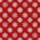 Картина вектора снежинок безшовная Стоковая Фотография