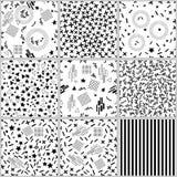 Картина вектора стиля Мемфиса безшовная Стоковые Фотографии RF