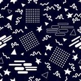 Картина вектора стиля Мемфиса безшовная Стоковая Фотография RF