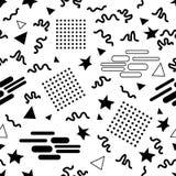 Картина вектора стиля Мемфиса безшовная Стоковое Изображение RF