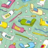 Картина вектора стоматологии безшовная Стоковые Изображения RF