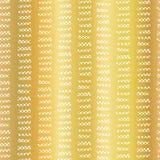 Картина вектора сусального золота абстрактная геометрическая безшовная Горизонтальные белые черточки в вертикальных линиях на зол иллюстрация вектора
