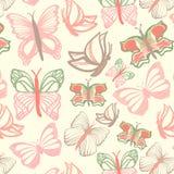 Картина вектора с бабочками Стоковое Изображение RF