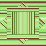 Картина вектора с выровнянными квадратами абстрактная зеленая текстура geom Стоковое Фото
