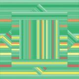 Картина вектора с выровнянными квадратами абстрактная зеленая текстура Стоковая Фотография RF