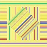 Картина вектора с выровнянными квадратами абстрактный желтый цвет текстуры Стоковые Фотографии RF
