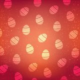 Картина вектора с декоративными яичками Предпосылка красного цвета праздника пасхи Стоковое Изображение RF