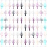 Картина вектора с деревьями Стоковое Изображение RF