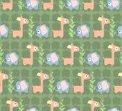 картина вектора с маленькими животными Стоковые Изображения RF