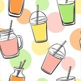 Картина вектора с smoothies и кругами цвета Бесплатная Иллюстрация