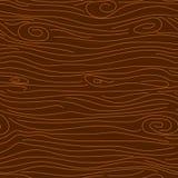 Картина вектора текстуры дерева темного коричневого цвета безшовная Стоковые Фотографии RF