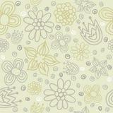 Картина вектора флористическая безшовная с абстрактными цветками Стоковая Фотография RF