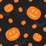 Картина вектора хеллоуина безшовная Стоковая Фотография
