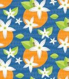 Картина вектора цветения Tilable оранжевая Стоковая Фотография