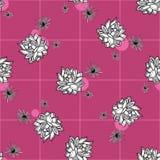Картина вектора цветка кактуса безшовная Иллюстрация кактуса руки вектора вычерченная розовая суккулентная Безшовные обои завода иллюстрация вектора
