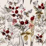 Картина вектора цветка с заводами иллюстрация штока