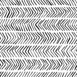 Картина вектора черная белая шевронная безшовная Акварель, предпосылка чернил Скандинавский дизайн, печать ткани моды бесплатная иллюстрация