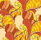 Картина вектора яркая безшовная абстрактная нарисованная вручную Стоковое Фото