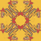 Картина вектора Cinco de Mayo безшовная Стоковое Изображение