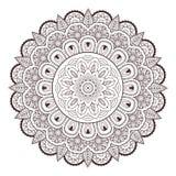 Картина вектора doodle татуировки mehndi Пейсли хны безшовная Стоковое фото RF