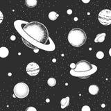 Картина вектора eps10 безшовная с иллюстрациями космоса Стоковое Изображение RF