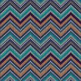 Картина вектора Knit безшовная Стоковое Изображение RF