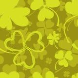 Картина весны с зеленым клевером Стоковое Фото