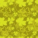 Картина весны с зеленым клевером Стоковое фото RF
