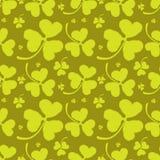 Картина весны с зеленым клевером Стоковое Изображение RF