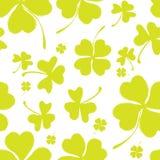 Картина весны с зеленым клевером Стоковые Изображения RF