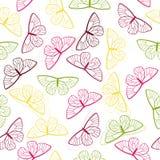 Картина весны butterly безшовная Стоковые Изображения RF