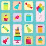 Картина вечеринки по случаю дня рождения иллюстрация вектора