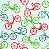 картина велосипеда безшовная также вектор иллюстрации притяжки corel Стоковые Изображения