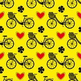 картина велосипеда безшовная Стоковое Изображение RF