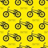 картина велосипеда безшовная bmx bike Стоковое Фото