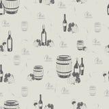 Картина вина на светлой предпосылке Стоковое Изображение RF