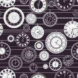 Картина винтажного часового циферблата вектора безшовная Стоковые Фото