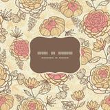 Картина винтажной коричневой розовой рамки цветков безшовная Стоковая Фотография RF