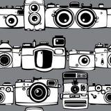 Картина винтажных камер фото безшовная Стоковое фото RF