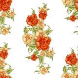 Картина винтажных обоев безшовная с желтыми розами Смогите быть использовано для дизайна ткани Стоковое Изображение RF
