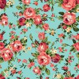 Картина винтажных роз chintz безшовная иллюстрация вектора