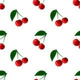 картина вишни безшовная также вектор иллюстрации притяжки corel Стоковые Изображения