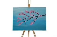 картина вишни цветения Стоковое фото RF