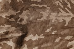 Картина военной формы с влиянием нерезкости в коричневом цвете Стоковое Изображение