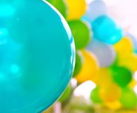 картина воздушного шара предпосылки цветастая Стоковая Фотография