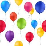 Картина воздушных шаров печати красочная Стоковые Изображения RF