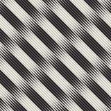 Картина волнистого вектора нашивок безшовная Ретро волнистая текстура Геометрические линии monochrome дизайн Стоковое Изображение